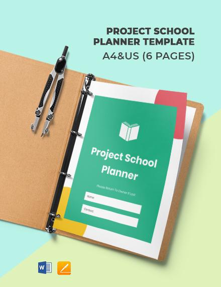 Project School Planner Template