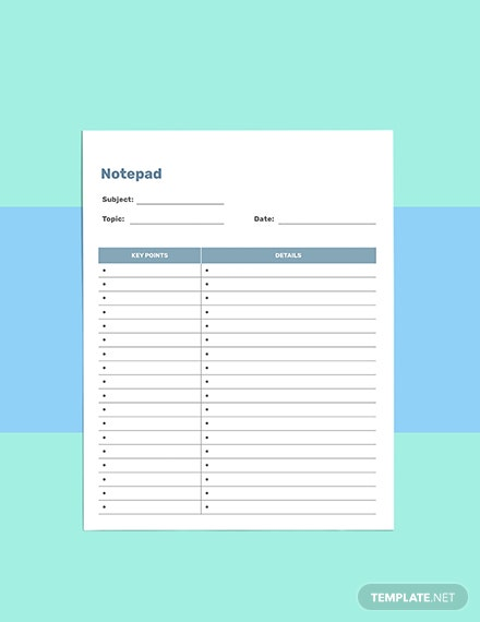 Notes school planner template Download