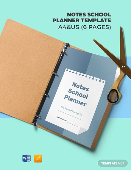 Notes School Planner Template