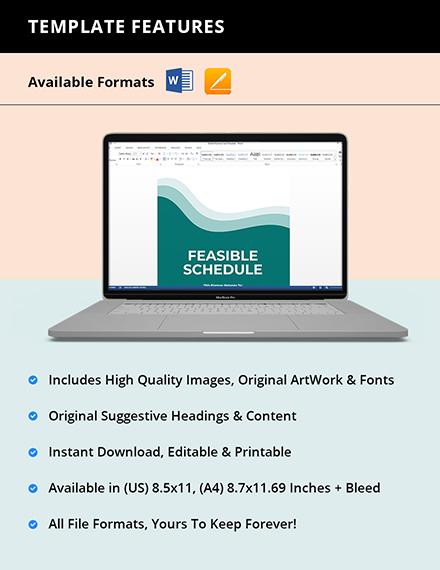 Class Schedule School Planner Template Editable