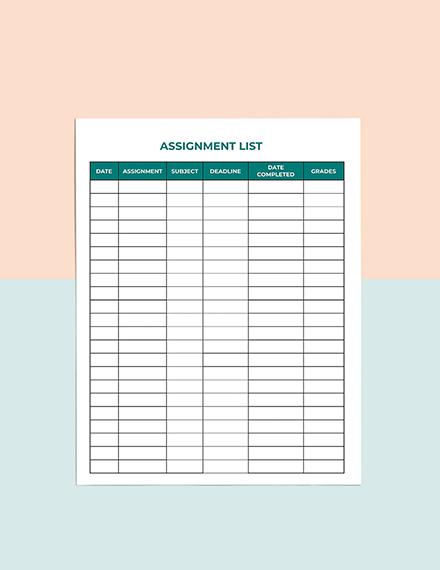 Class Schedule School Planner Template Instruction