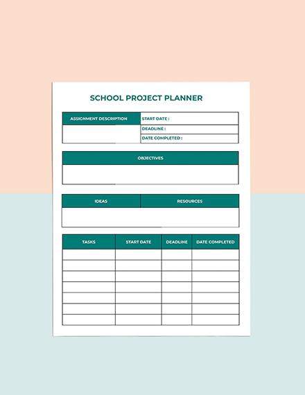 Class Schedule School Planner Template Download