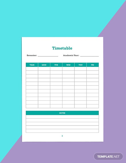 Monthly school planner template Sample