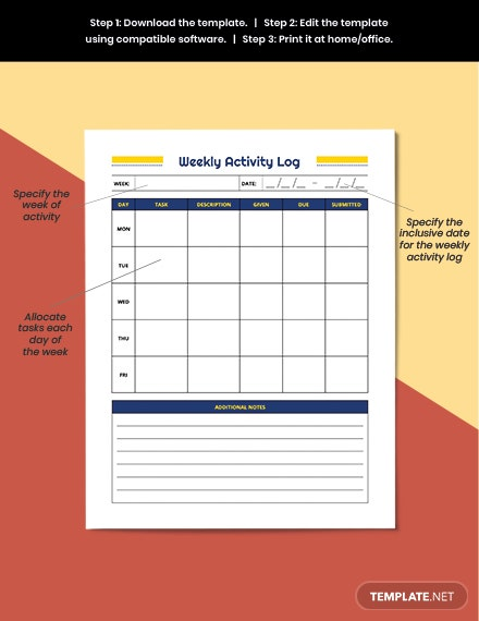 Weekly School Planner Example