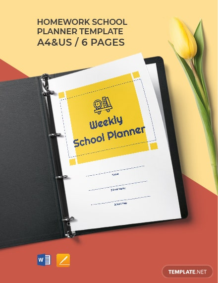 Weekly School Planner Template