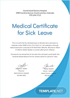 Free medical certificates download editable printable for Sick certificate template