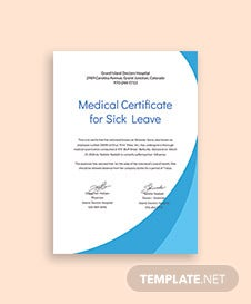Medical Certificate Format for Sick Leave