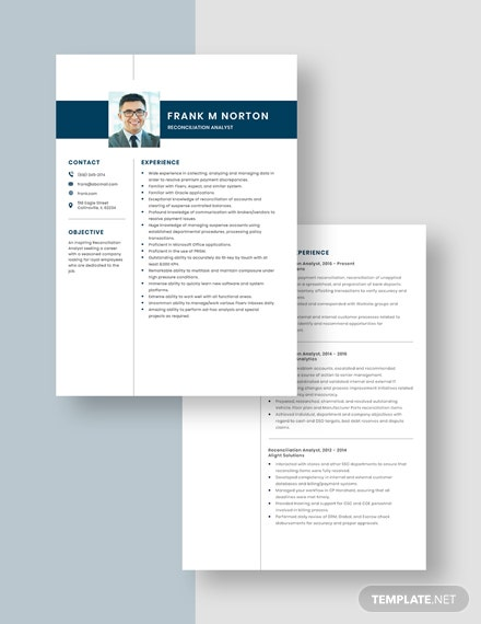 Reconciliation Analyst Resume Download
