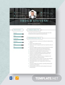 Roofing Consultant Resume Template