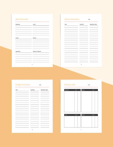 Blank meal planner Download