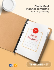 Free Blank Meal Planner Template