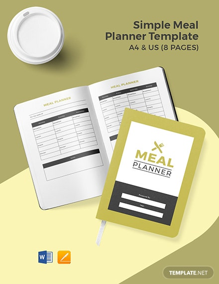Free Simple Meal Planner Template