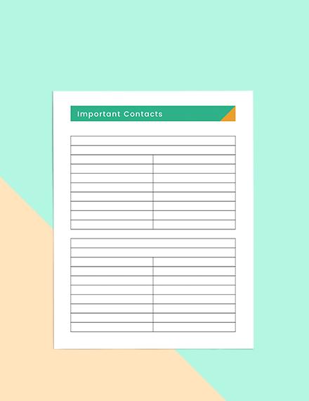Basic school planner Format