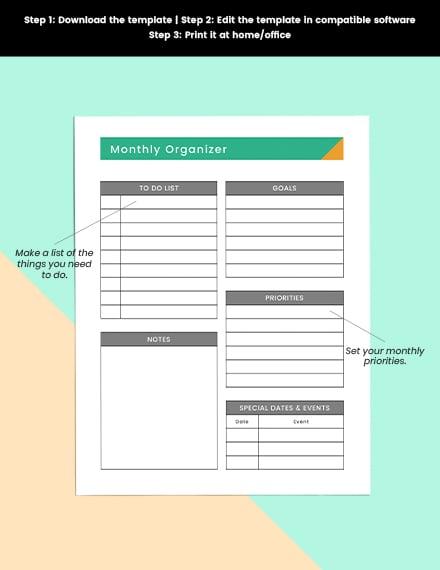 Basic school planner Printable