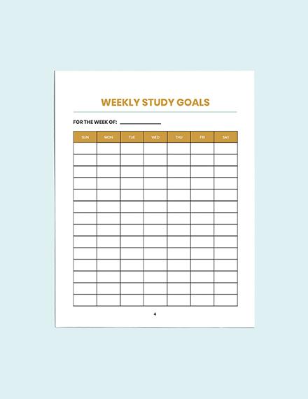 Download Blank School Planner