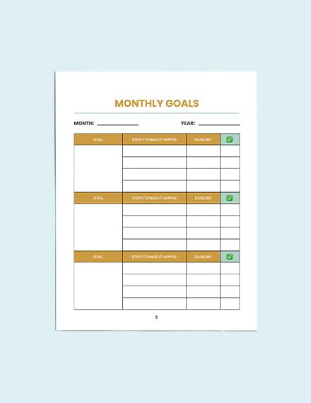 Editable Blank School Planner