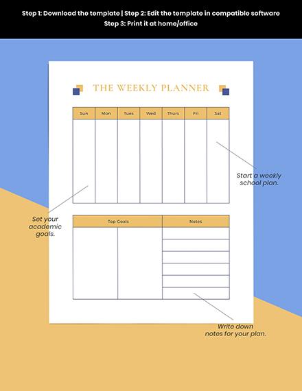 Simple School Planner Example