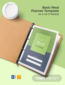 Free Basic Meal Planner Template