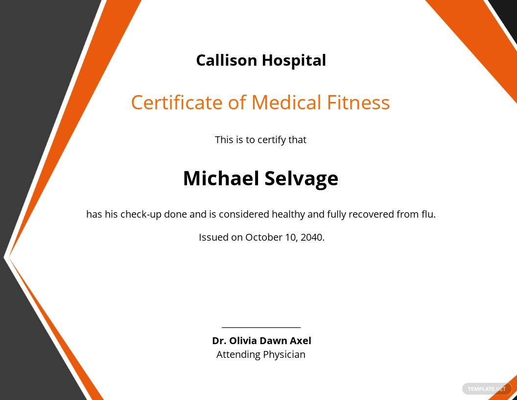 Free Medical Fitness Certificate Format.jpe