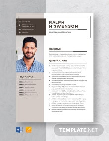 Proposal Coordinator Resume Template