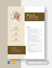 Prototype Test Engineer Resume Template