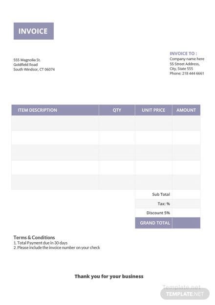 basic invoice template download 78 invoices in word excel pages