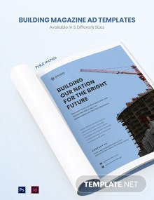 Free Building Magazine Ads Template