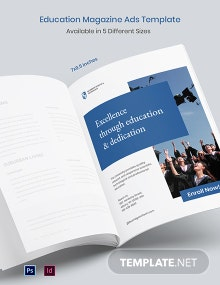 Free Education Magazine Ads Template