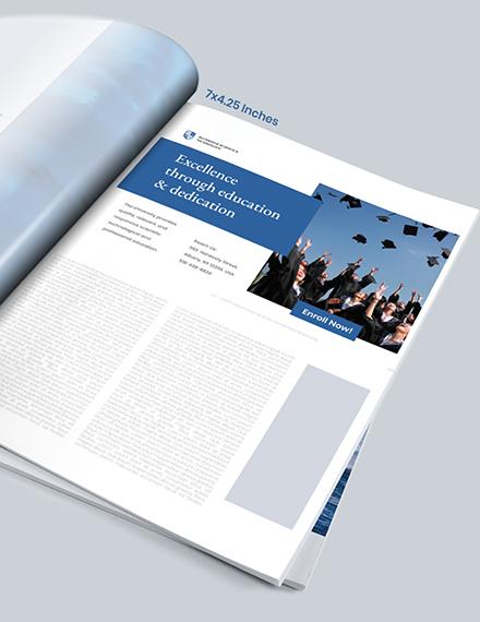 Education Magazine Ads Example