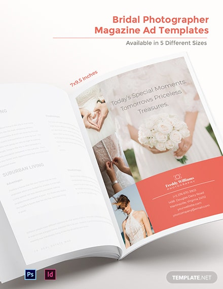 Free Bridal Photographer Magazine Ads Template