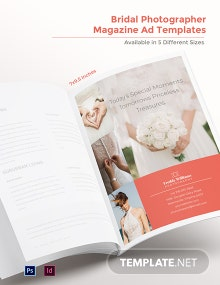 Bridal Photographer Magazine Ads Template