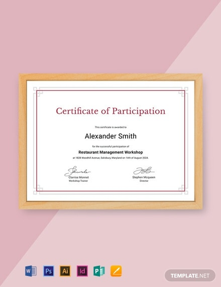 free templates for certificates of participation.html