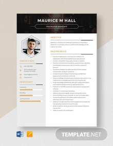 Psychiatric Assistant Resume Template