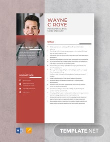 Psychiatric Clinical Nurse Specialist Resume Template