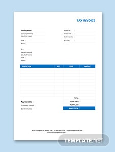 Basic Tax Invoice Template