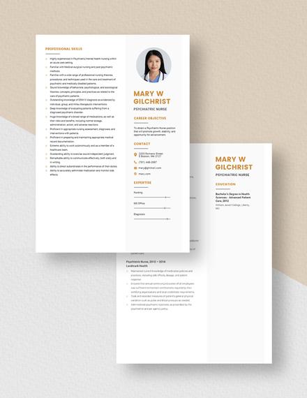 Psychiatric Nurse Resume Download