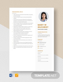 Psychiatric Nurse Resume Template