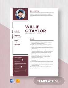 Psychiatric Social Worker Resume Template