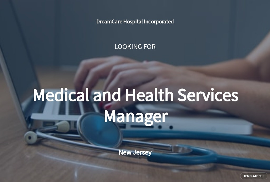 Medical and Health Services Manager Job Description Template