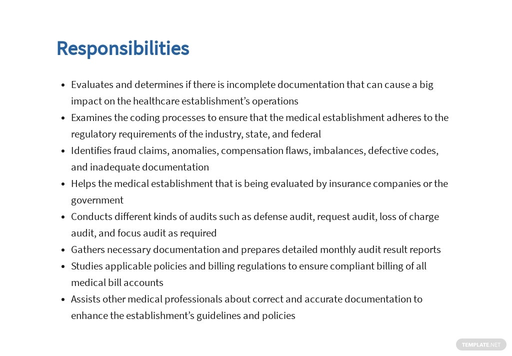 Free Medical Auditor Job Ad and Description Template 3.jpe