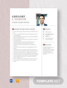 Physician Account Specialist Resume Template