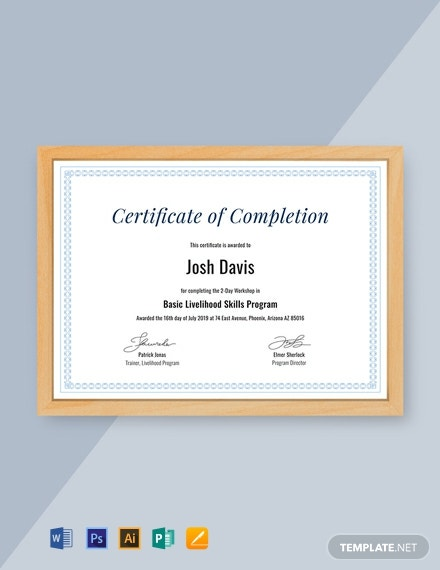 certificate template for project completion.html
