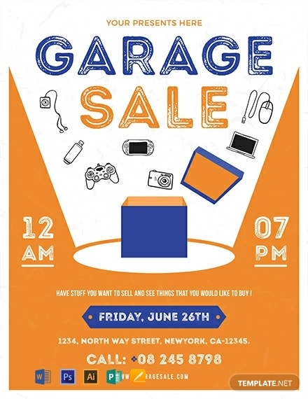 Free Garage Sale Flyer Template