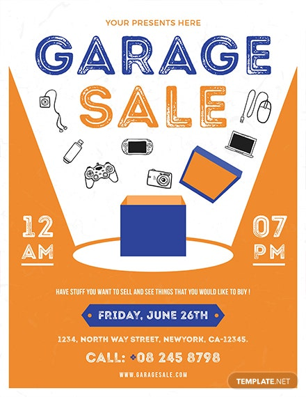 yard sale flyer template word