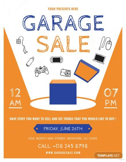 Garage Sale Flyer Template | Free Templates
