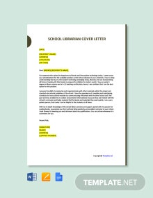 Free School Librarian Cover Letter Template