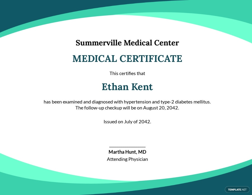 Free Sample Medical Certificate from Doctor Template.jpe
