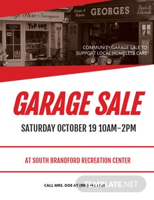 Free Community Garage Sale Flyer Template