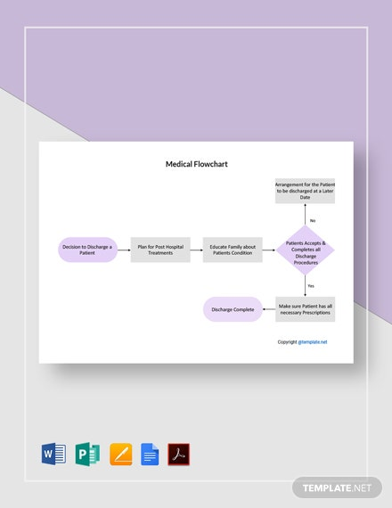 Free Simple Medical Flowchart Template