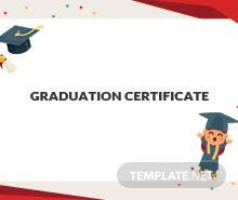 Free graduation gift certificate template in adobe illustrator free nursery graduation certificate template yelopaper Images